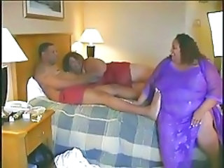 Ebony  Threesome