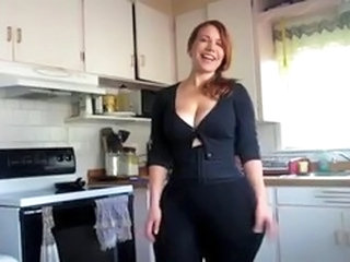 Amateur Chubby Homemade Kitchen  Redhead