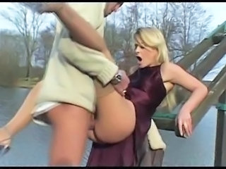 Blonde Clothed European Hardcore Italian  Outdoor