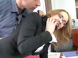 Forced Glasses Hardcore  Office Secretary
