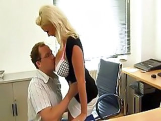 Big Tits Blonde  Office