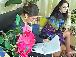 Lesbian  Old and Young Russian Smoking Stockings Teen