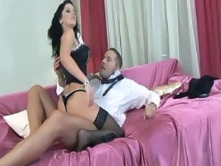 European Lingerie  Pornstar Riding Stockings