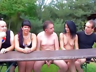 Amateur Groupsex  Outdoor Swingers Wife