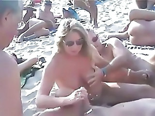 Amateur Beach Handjob Nudist Outdoor Public Swingers Wife