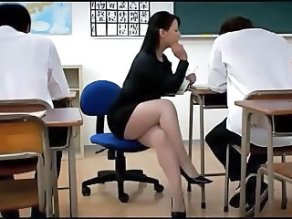 Asian Japanese Legs  School Teacher