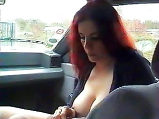Big Tits Car Handjob Mature