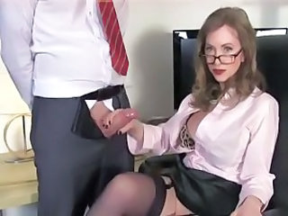 Amazing Glasses Handjob  Teacher