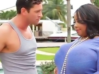 Big Tits Ebony Interracial  Outdoor