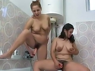 Bathroom Dildo Hairy  Toy
