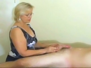 Glasses Handjob Mature Nipples