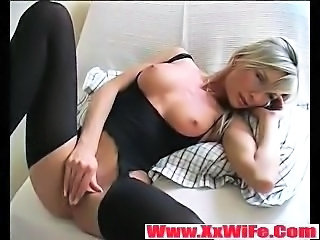 Amazing Masturbating  Stockings Wife
