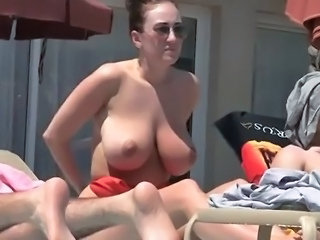 Beach Big Tits  Outdoor Voyeur