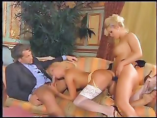 Blowjob  Stockings Strapon Threesome