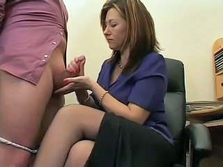 Handjob  Office Secretary