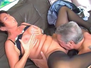 Licking Mature Older Stockings