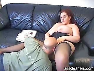 Big Tits Licking  Stockings