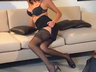 Big Tits Legs Lingerie  Stockings Stripper