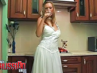 Bride Drunk Kitchen