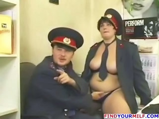 Mature Office Russian Uniform