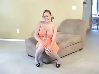 Big Tits  Natural Pantyhose Solo