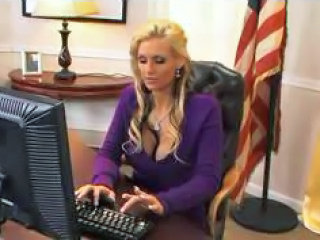 Amazing Big Tits Blonde  Office Pornstar Secretary