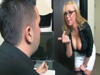 Big Tits Glasses  Natural Office Pornstar Secretary