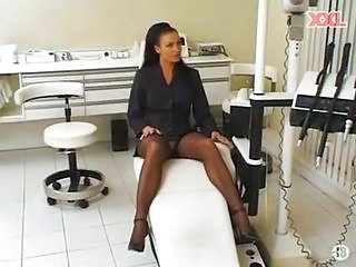 Doctor  Stockings Upskirt