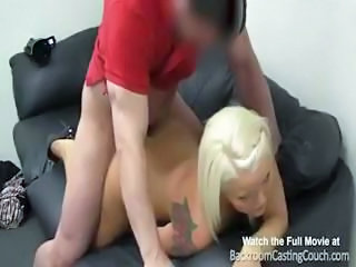 Blonde Casting Doggystyle