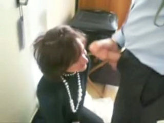 Amateur Blowjob Clothed European French  Office Secretary
