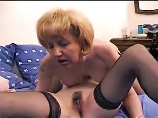 Hairy Lesbian Licking Mature Stockings