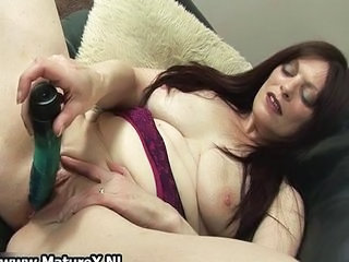Dildo Masturbating Mature  Toy
