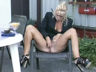 European German Masturbating Mature Outdoor