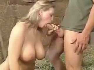 Big Tits Blowjob Farm  Natural Pornstar