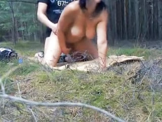 Amateur Doggystyle Outdoor Wife