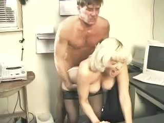 Big Tits Blonde Doggystyle Hardcore  Natural Office Secretary Stockings