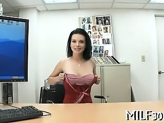 Amazing Casting Cute  Office Pov Stripper