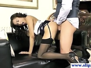 Amazing Clothed Daddy Doggystyle  Old and Young Stockings