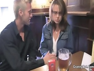 Drunk Glasses Mature Mom Old and Young