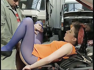 Car Clothed  Pantyhose Vintage