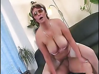 Big Tits Mature Natural Riding Stockings