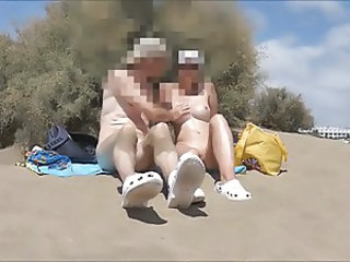 Amateur Beach Nudist Older Outdoor Wife