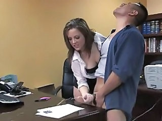 Cumshot Handjob  Office Secretary