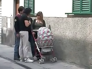 European Italian Mom Outdoor Public