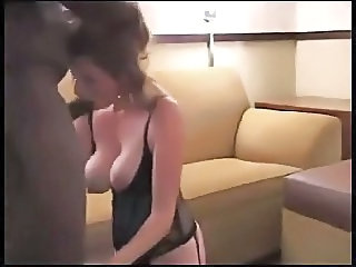 Amateur Blowjob Homemade Interracial  Natural Wife