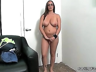 Big Tits Casting Glasses  Natural