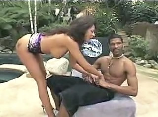 Interracial Latina  Outdoor