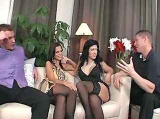 Groupsex  Stockings Swingers Wife