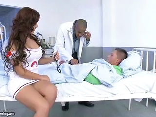 Amazing Doctor Interracial   Nurse Pornstar Threesome Uniform