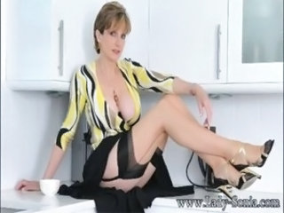 Big Tits British European Kitchen Legs  Pornstar Stockings